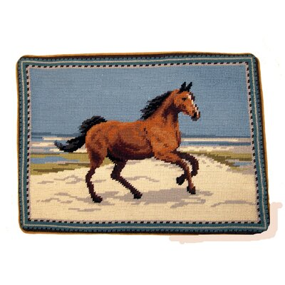 Albert Fringe Horse Wool Lumbar pillow
