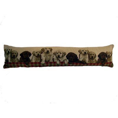Swiszcz Labrador Puppies Tapestry Draft Throw Pillow