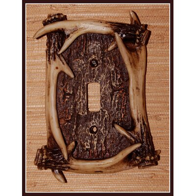 Deer Antler Single Switch Plate