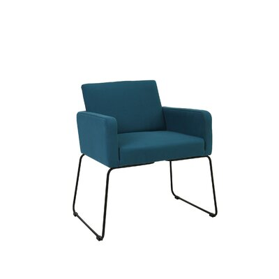 Jolena Arm Chair (Set of 2) Upholstery: Teal