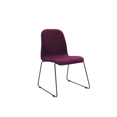 Evy Side Chair (Set of 2) Upholstery: Ruby