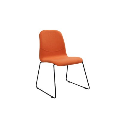 Evy Side Chair (Set of 2) Upholstery: Tangerine