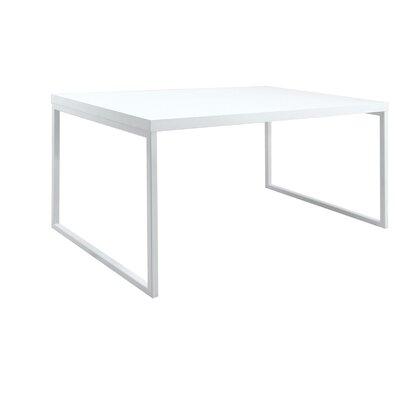 Clement Dining Table Base Finish: White Matte, Top Finish: White Lacquer