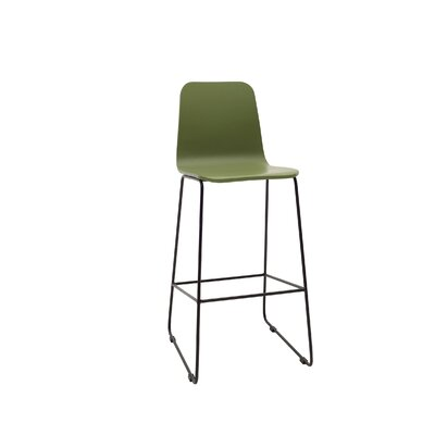 Agnes 30 Bar Stool Upholstery: Green Lacquer