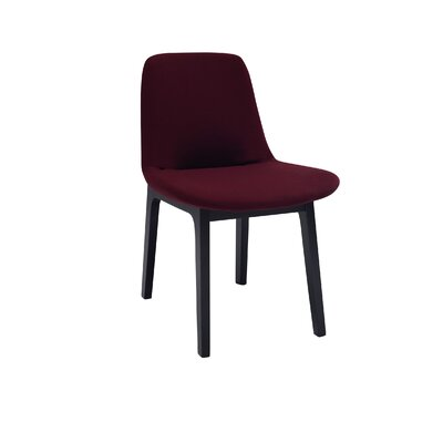 Ida Upholstered Dining Chair (Set of 2) Upholstery Color: Ruby