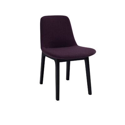 Ida Upholstered Dining Chair (Set of 2) Upholstery Color: Violet