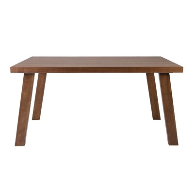 William Dining Table Base Finish: Walnut, Top Finish: Walnut