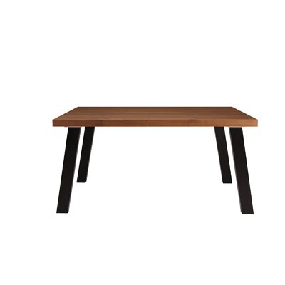 William Dining Table Base Finish: Black Matte, Top Finish: Walnut