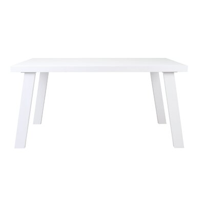 William Dining Table Base Finish: White Lacquer, Top Finish: White Lacquer