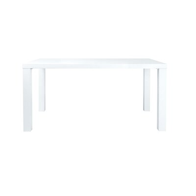 Alexander Dining Table Top Finish: White Lacquer, Base Finish: White Lacquer
