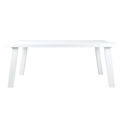 William Dining Table Top Finish: White Lacquer, Base Finish: White Lacquer