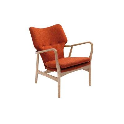 Simon Lounge Armchair Color: Oak, Color: Russet