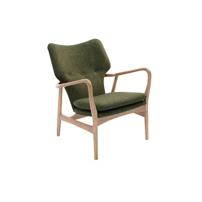 Simon Lounge Armchair Color: Oak, Color: Forest