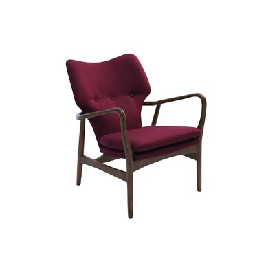 Simon Lounge Armchair Color: Wanut, Finish: Ruby