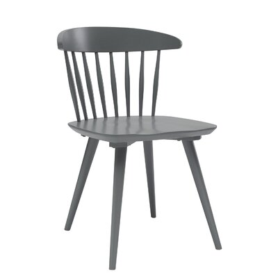 Brittan Dining Side Chair (Set of 2) Finish: Grey Lacquer