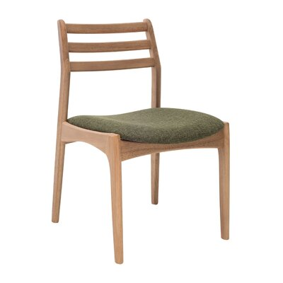 Maja Side Chair (Set of 2) Upholstery: Natural Oak / Forest