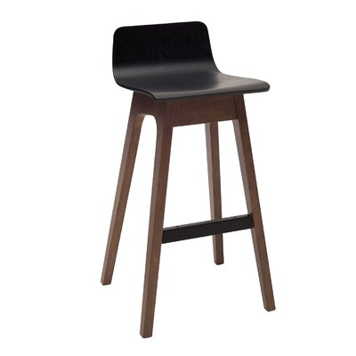 Agnes 30 inch Bar Stool (Set of 2) Upholstery: Black Ash