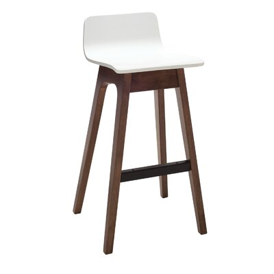 Agnes 30 Bar Stool (Set of 2) Upholstery: White Lacquer