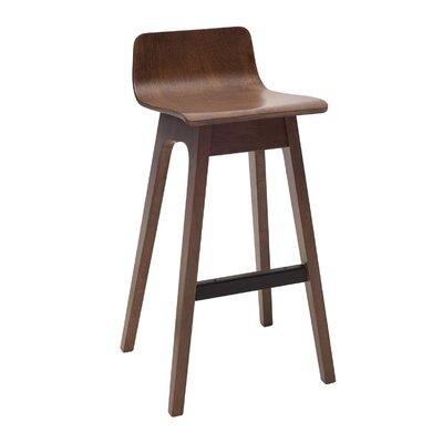 Agnes 30 inch Bar Stool (Set of 2) Upholstery: Walnut