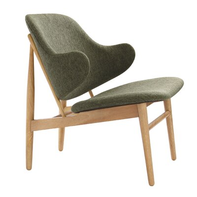 Romi Lounge Chair Finish: Oak, Upholstery: Forest