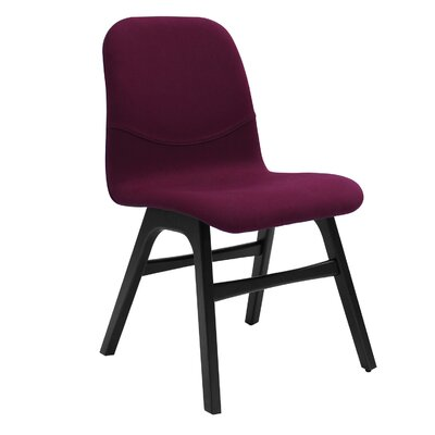 Agnes Side Chair (Set of 2) Upholstery: Black Matte / Ruby