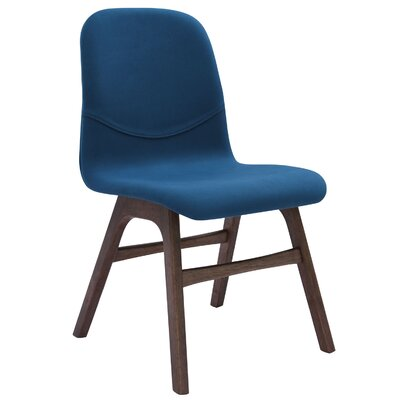 Agnes Side Chair (Set of 2) Upholstery: Walnut / Teal