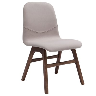 Agnes Side Chair (Set of 2) Upholstery: Walnut / Barley