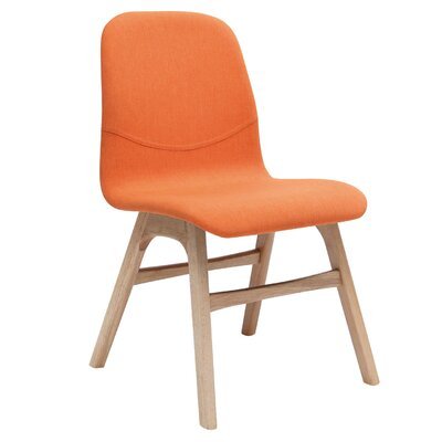 Agnes Side Chair (Set of 2) Upholstery: Natural Oak / Tangerine