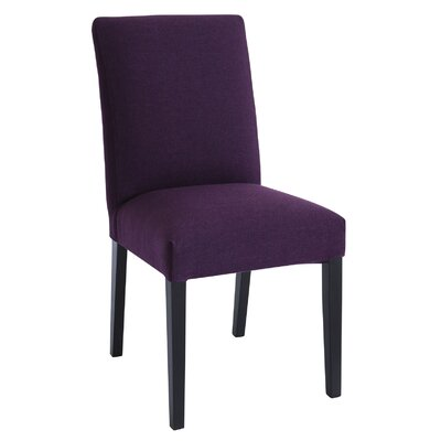 Lenna Side Chair Upholstery: Black Matte / Orchid