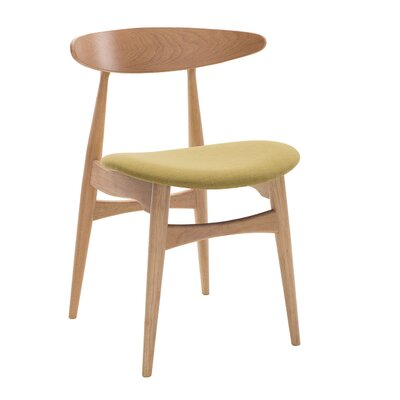 Kaia Side Chair (Set of 2) Upholstery: Oasis, Finish: Natural Oak