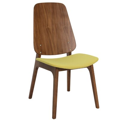 Ditta Side Chair (Set of 2) Upholstery: Pistachio