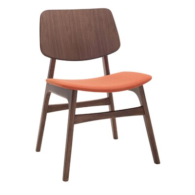 Mathilde Side Chair (Set of 2) Upholstery: Carrot / Walnut