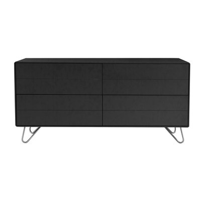 Johan Sideboard Color: Charcoal Grey Lacquer