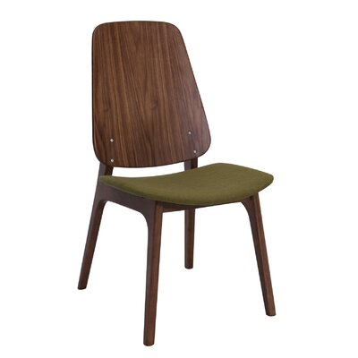 Ditta Side Chair (Set of 2) Upholstery: Olive