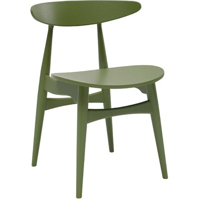 Kaia Side Chair (Set of 2) Upholstery: Green Lacquer, Finish: Veneer