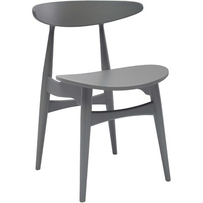 Kaia Side Chair (Set of 2) Upholstery: Grey Lacquer, Finish: Veneer