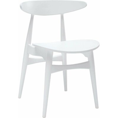 Kaia Side Chair (Set of 2) Upholstery: White Lacquer, Finish: Veneer