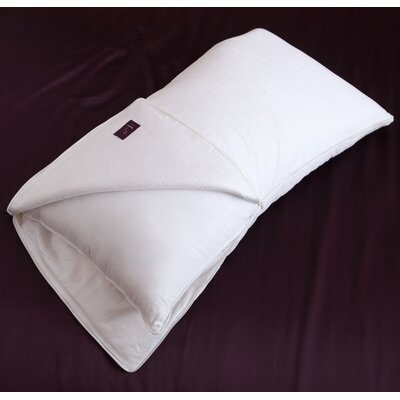 Silk-Filled Cotton Pillow Size: King