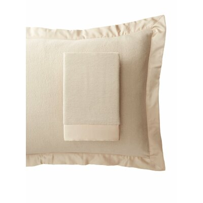 Luxury Pure Silk Fleece Pillow Sham Size: King, Color: Creamy Latte