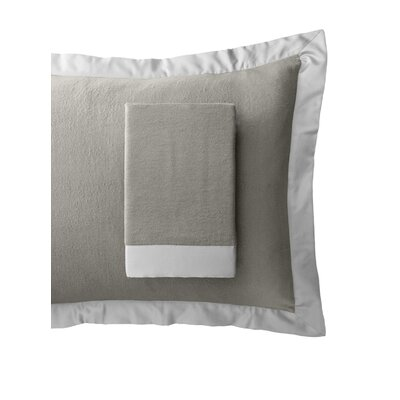 Luxury Pure Silk Fleece Pillow Sham Color: Moonbeam Silver, Size: Queen