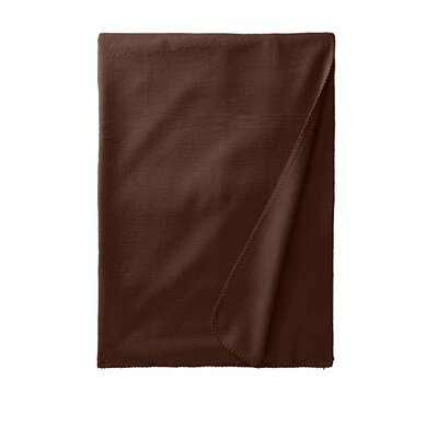 Luxury Pure Silk Fleece Throw Color: Dark Chocolate