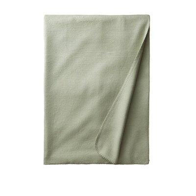 Luxury Pure Silk Fleece Throw Color: Light Pistachio