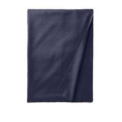 Luxury Pure Silk Fleece Throw Color: Midnight Blue