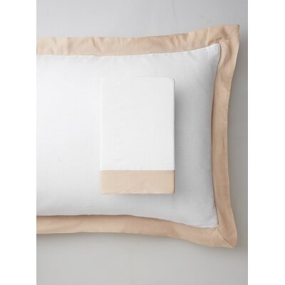 Luxury Pure Linen Pillow Sham Size: King, Color: Creamy Latte