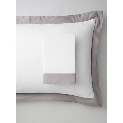 Luxury Pure Linen Pillow Sham Color: Moonbeam Silver, Size: Standard