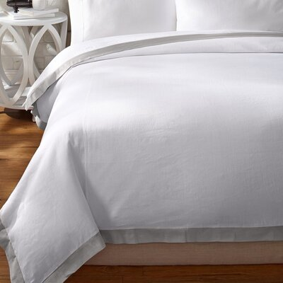 Luxury Duvet Cover Size: Full/Queen, Color: Moonbeam Silver