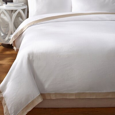 Luxury Duvet Cover Size: King, Color: Creamy Latte