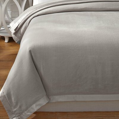 Luxury Pure Silk Fleece Blanket Color: Moonbeam Silver, Size: King