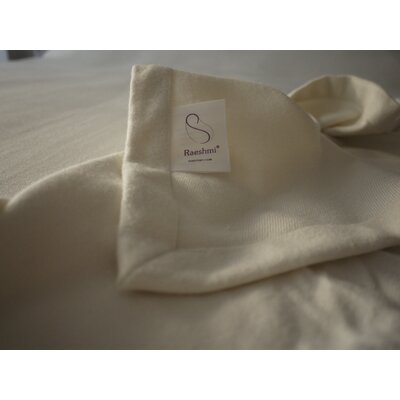Bed Blanket Size: Queen, Color: Gardenia White
