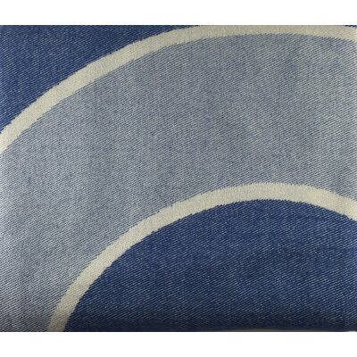 Circles Throw Blanket Color: Oyster Blue